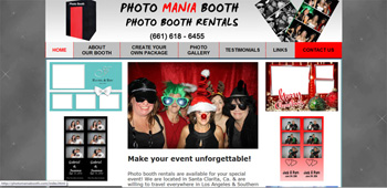 Photo Booth Rentals Southern California, Website Designed, ReDesigned & Maintained Photo Booth Rentals Southern California  https://photomaniabooth.com/index.html Affordable Website Design Southern California, Affordable Website Re-design In Southern California CA.,(818) 281-7628  http://www.tapsolutions.net
