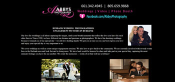 Wedding Photographers < CITY>, Website Designed, ReDesigned & Maintained Wedding Photographers < CITY>  http://abbysphotography.net/ Southern California Website Design , Website Design Southern California, Website Development In Southern California CA.,(818) 281-7628  http://www.tapsolutions.net