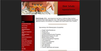 site developed for Appraiser Eliott | Antelope Valley | http://www.tapsolutions.net | Website Development and Website Designed